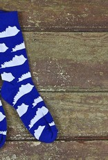 KY for KY Southern Socks KY State(blue/white)