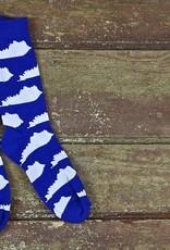 KY for KY Southern Socks KY State(blue/white)