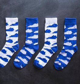 KY for KY Southern Socks KY State (White/Blue)
