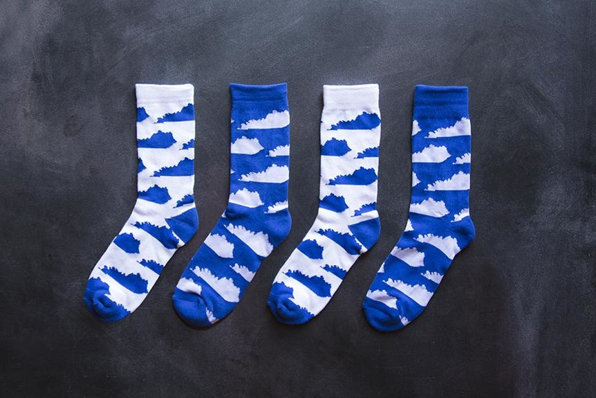 KY for KY Southern Socks KY State (White/Blue)