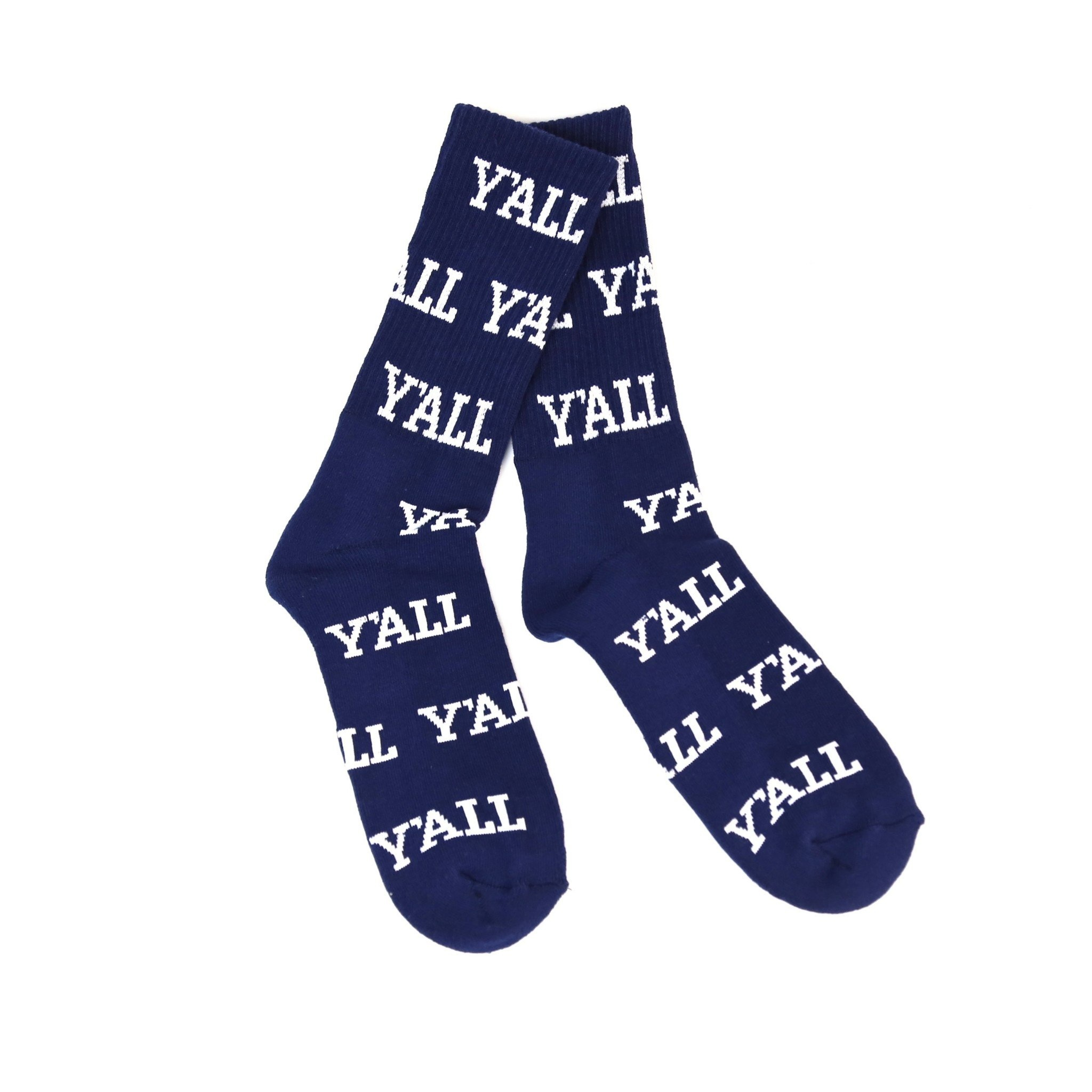 KY for KY Southern Socks Y'all  (navy/white)