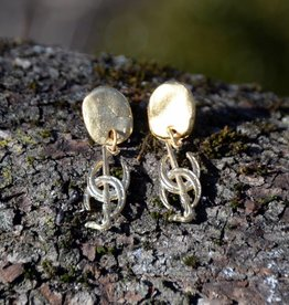 Gold Horseshoe Earring