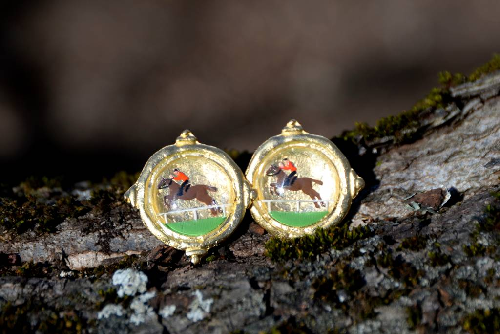 Equestrian Glass Earring