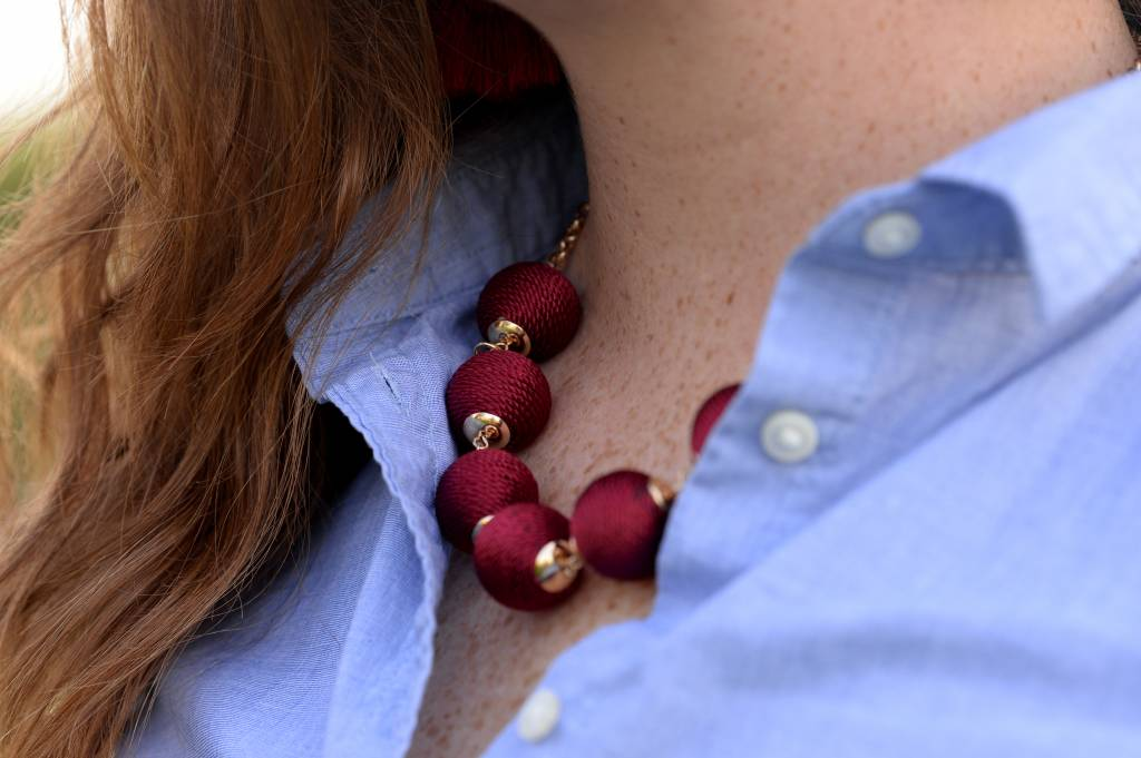 Woven Dot Necklace