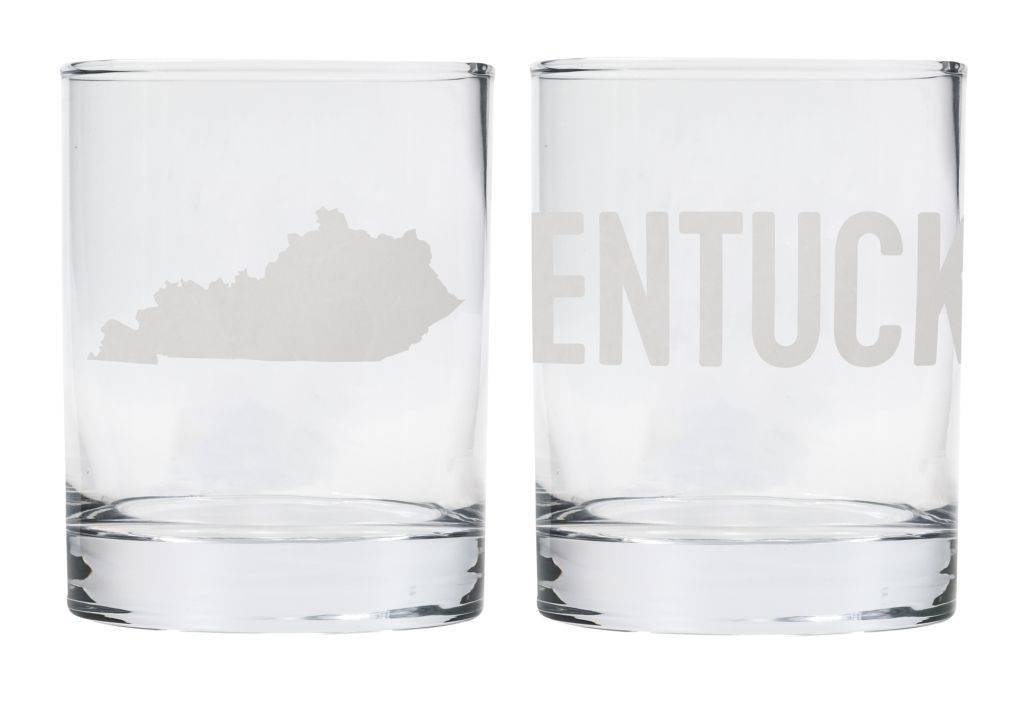 State of Kentucky Rocks Glass Set
