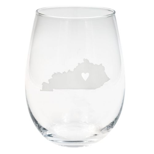 State of Kentucky Wine Glass