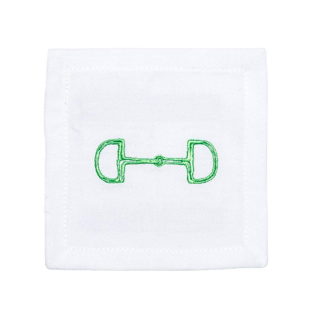 Pomegranate Snaffle Bit Cocktail Napkins - Lime (Set of 6)