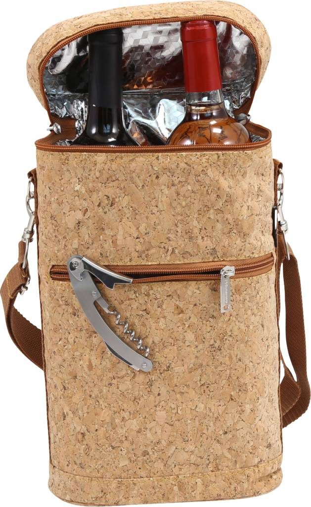 Two Bottle Insulated Cork Carrier