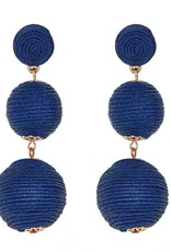Wellington Earrings - Navy
