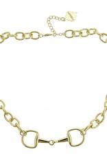 Horsebit Necklace, Gold