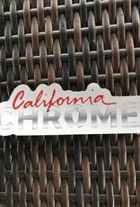 California Chrome Die Cut Sticker