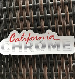California Chrome Die Cut Sticker