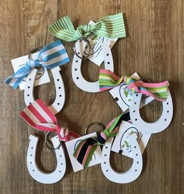 Horse Shoe / Ribbon Key Chain