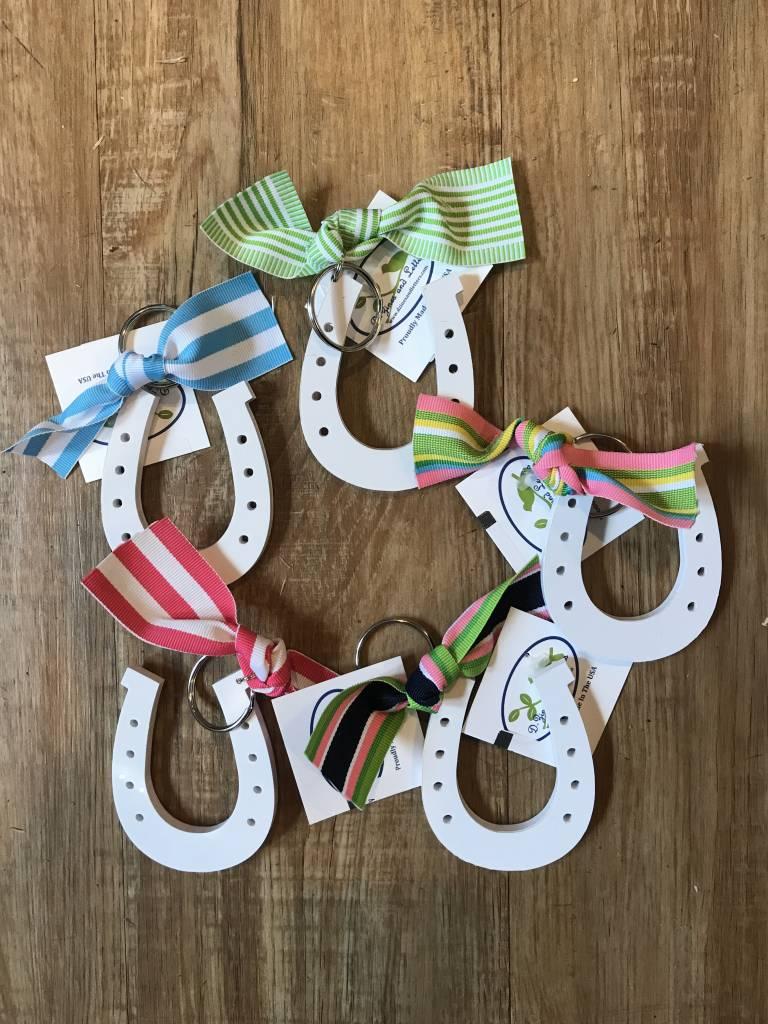 Horse Shoe / Ribbon Key Chain