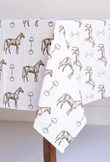 Pomegranate Horse & Snaffle Tablecloth (55x55)