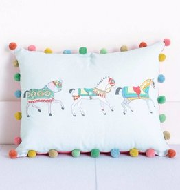 Pomegranate Lipizzan Lumbar Pillow