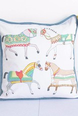 Pomegranate Lipizzan Throw Pillow
