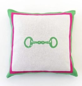 Pomegranate Snaffle Cotton Throw Pillow