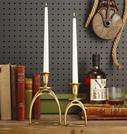 Large Gold Antique Stirrup Candle Holder