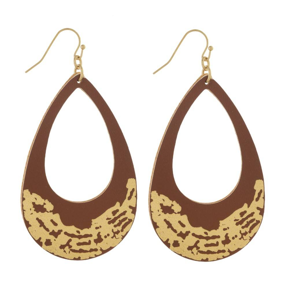 Drop Gold Brushed Earrings