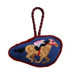 Smathers & Branson Derby Horse Needlepoint Ornament