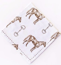 Pomegranate Horse & Snaffle Napkins (Set of 4)