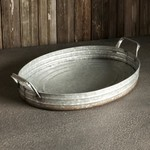 Oval Galvanized Serving Tray