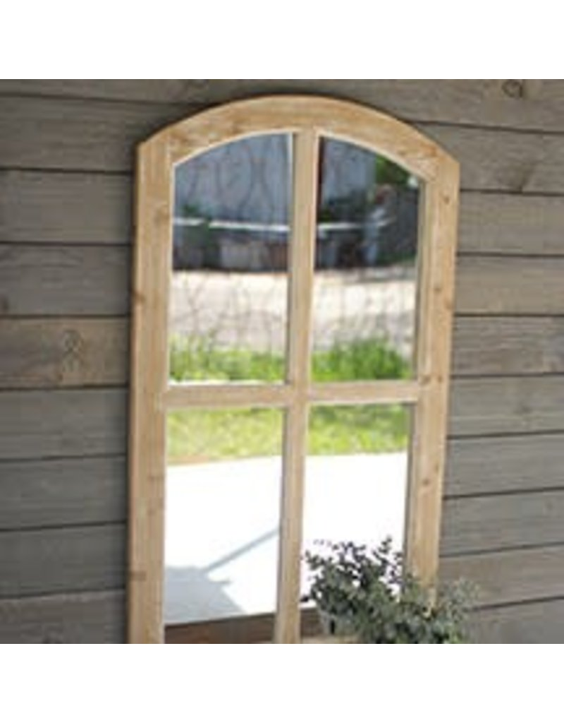 Mirrors Arched Wooden Mirror White Wash