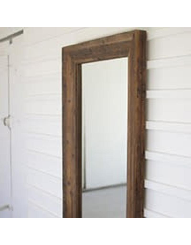 Recycled Rectangle Wood Mirror