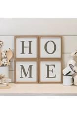 """Home"" Word Art 4pcs MT2794"