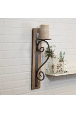 Wood and Metal Wall Sconce BY1059