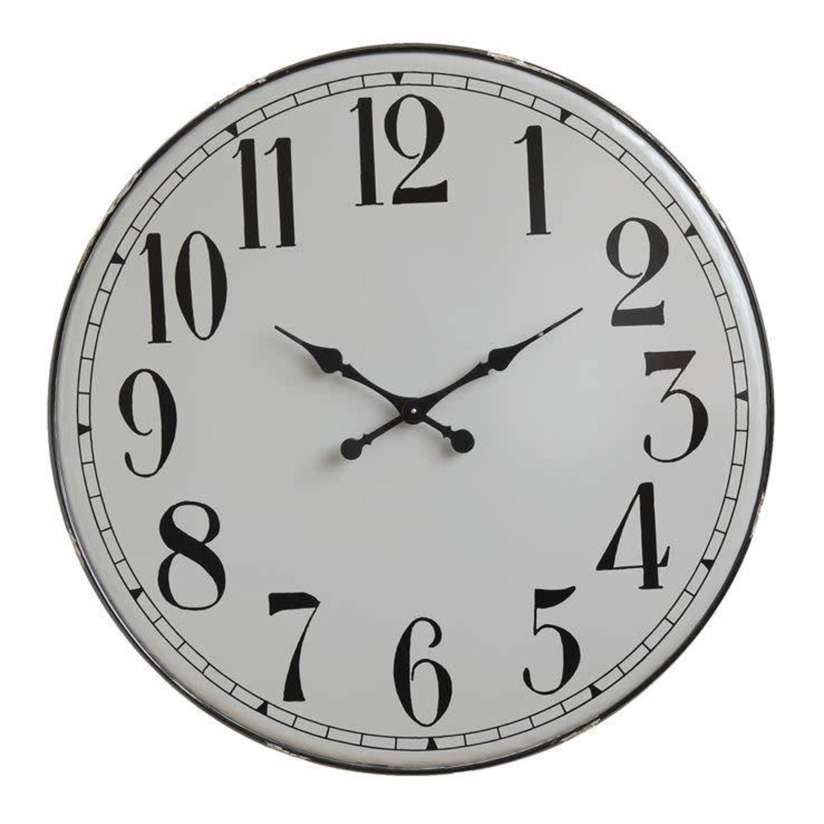 Round Metal Clock