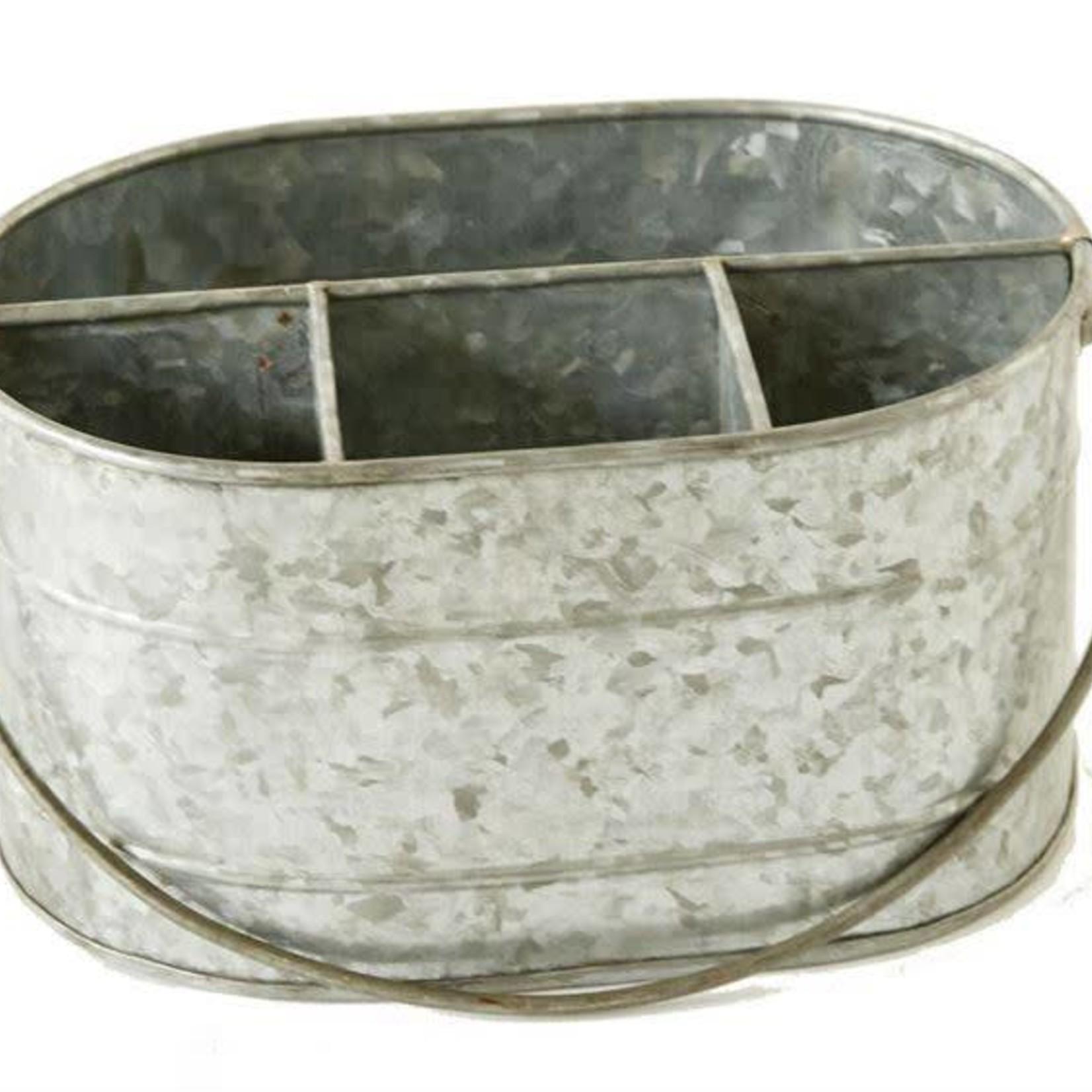 Galvanized Metal Caddy DA6577