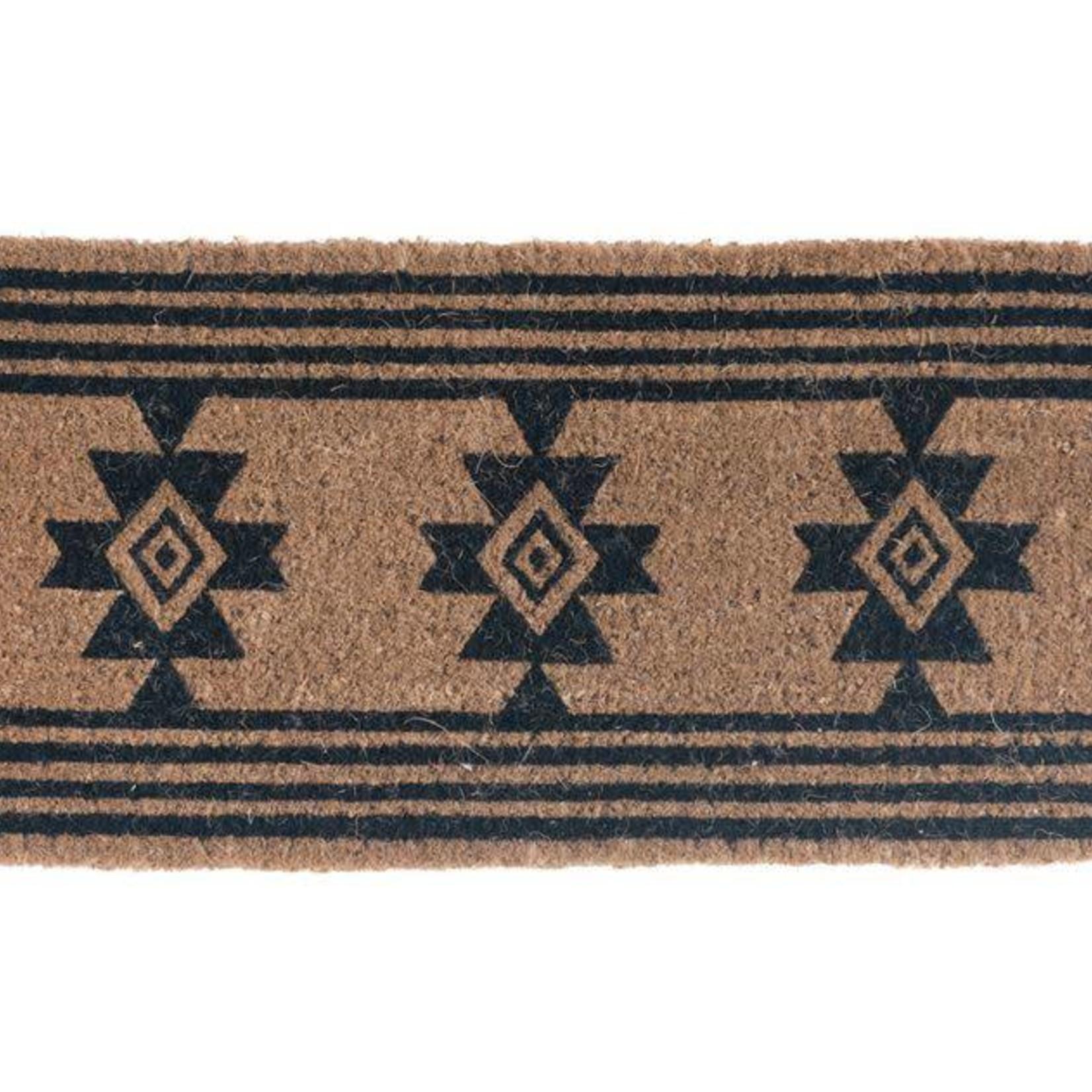 Natural Coir Doormat w/ Aztec Pattern DA9924