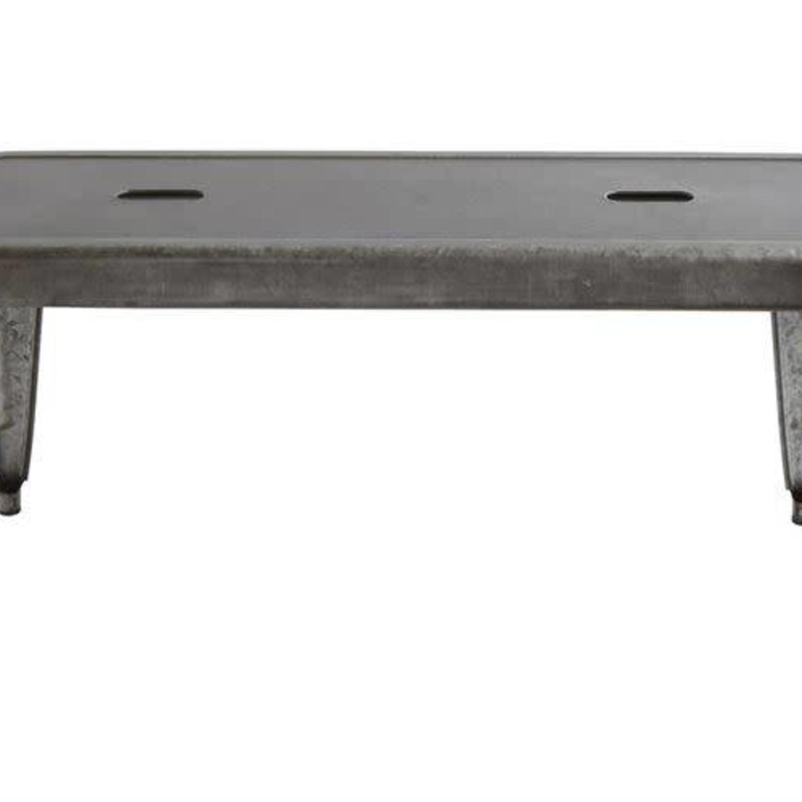 Galvanized Metal Bench DA7817