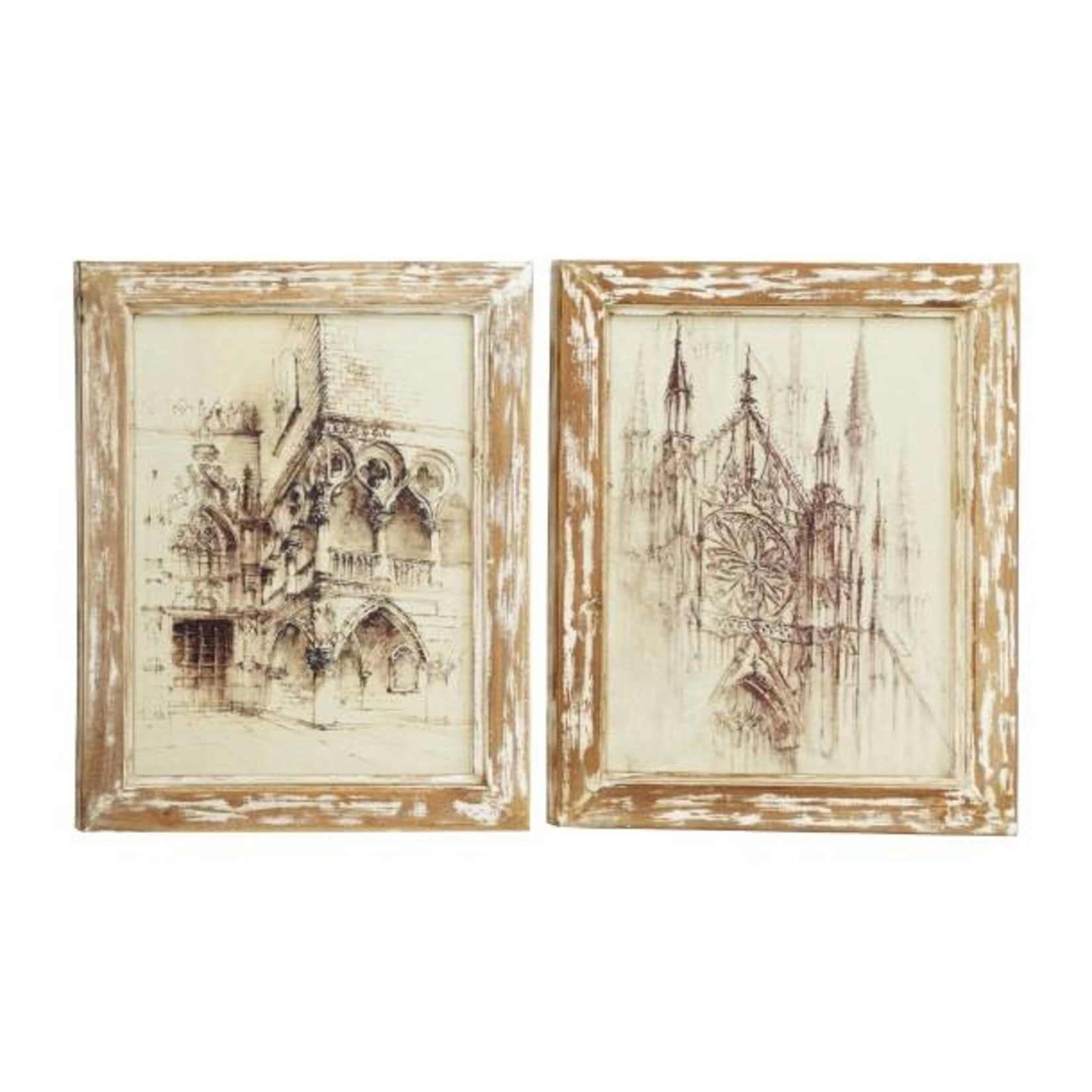 European Picture w/ Wood Frame 20458