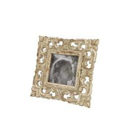 White Carved Photo Frame - 9x9