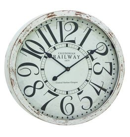 "White Wall Clock 24"" 52125"