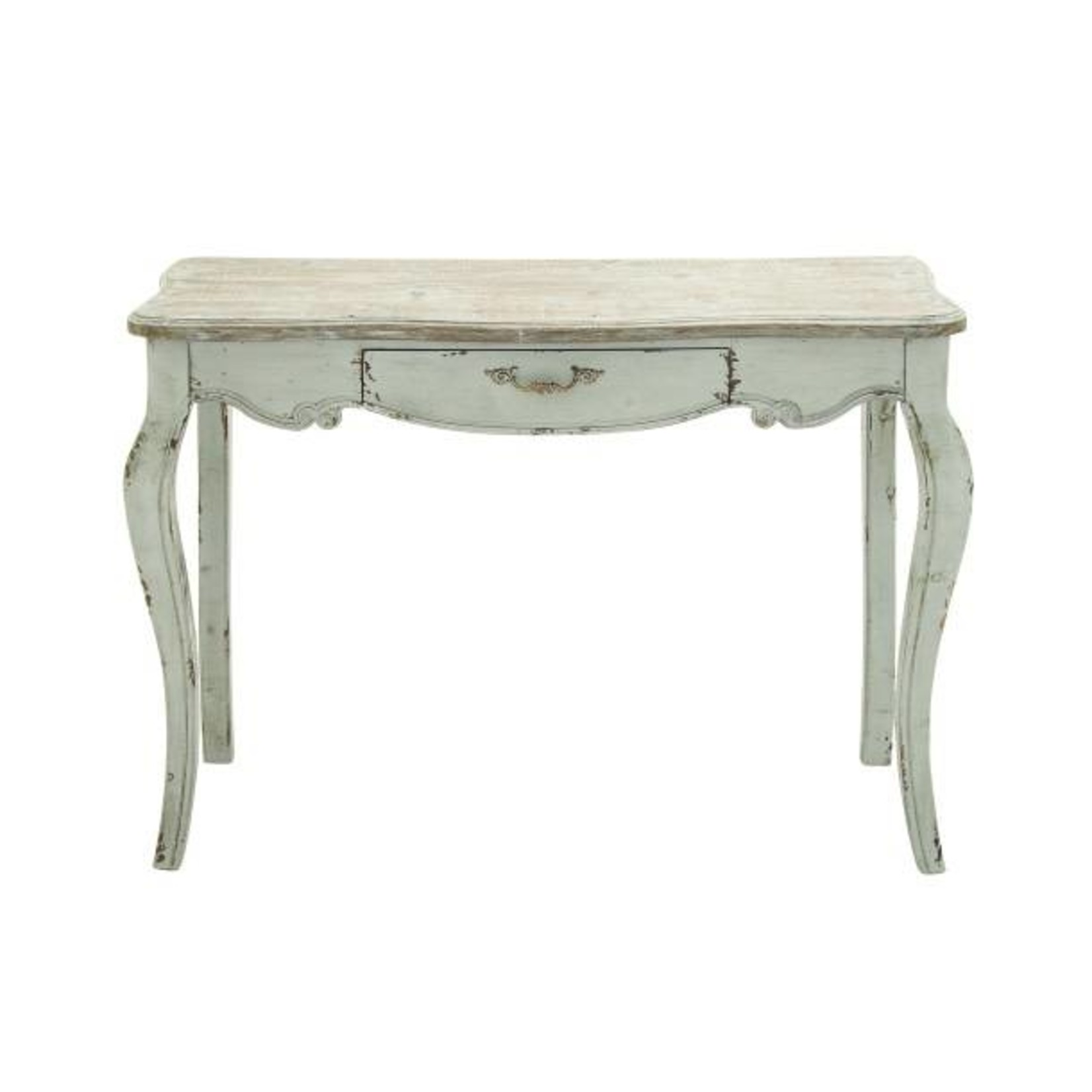 White Curved Leg Console Table 56565