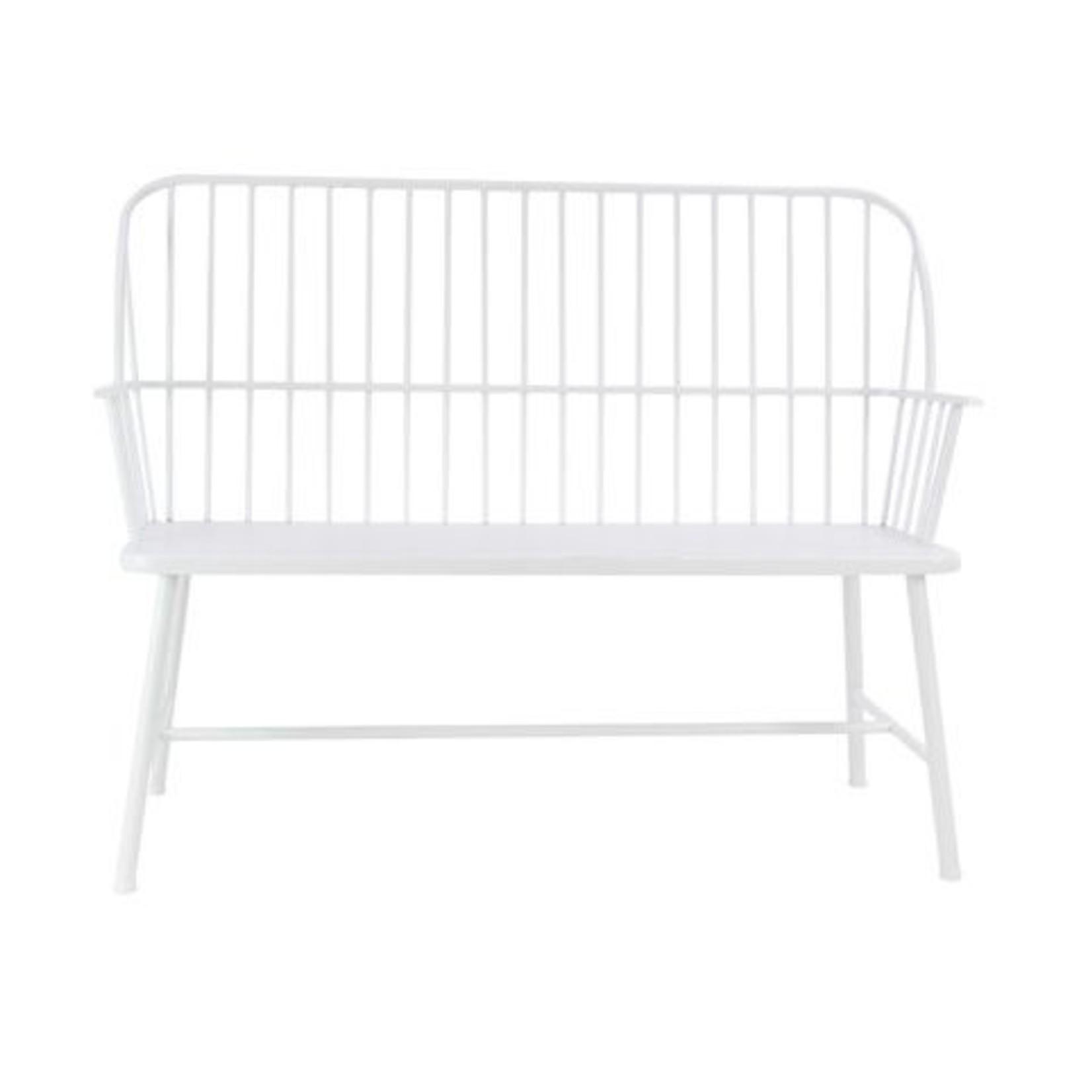 Metal White Bench 86944