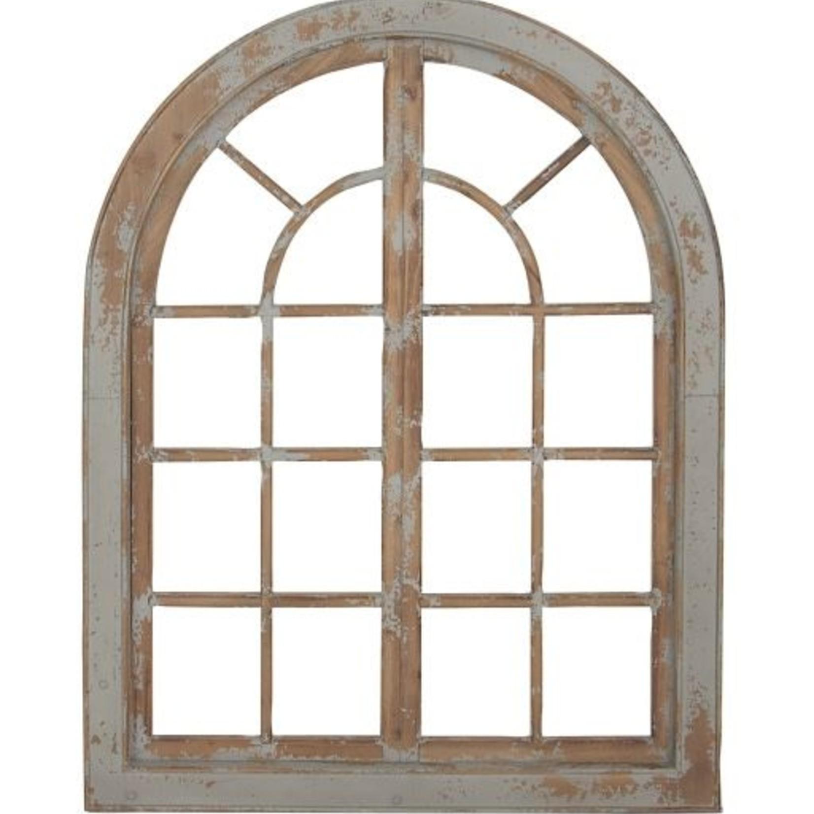 Grey Wood Arch Decor 98740