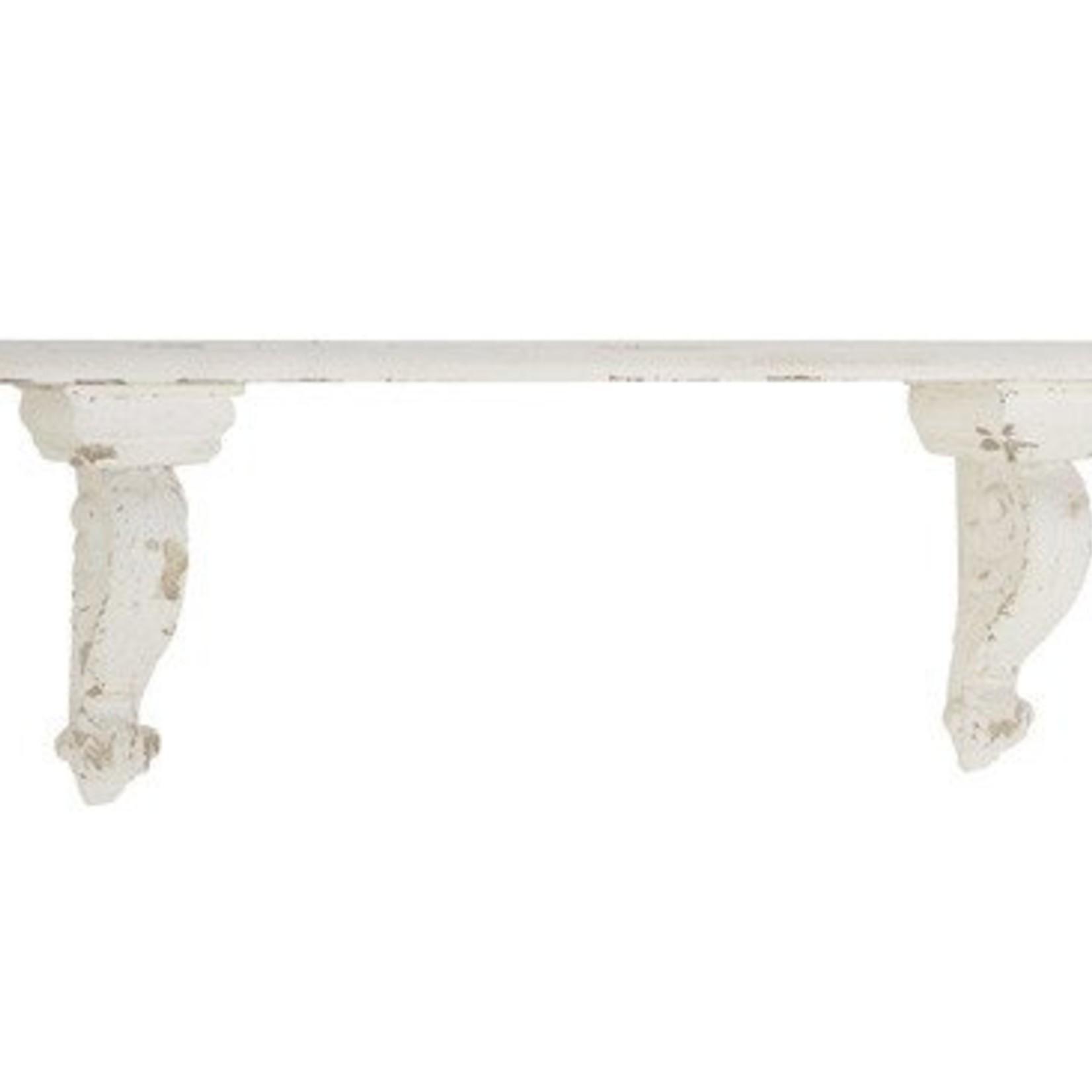 White Distressed Corbel Shelf