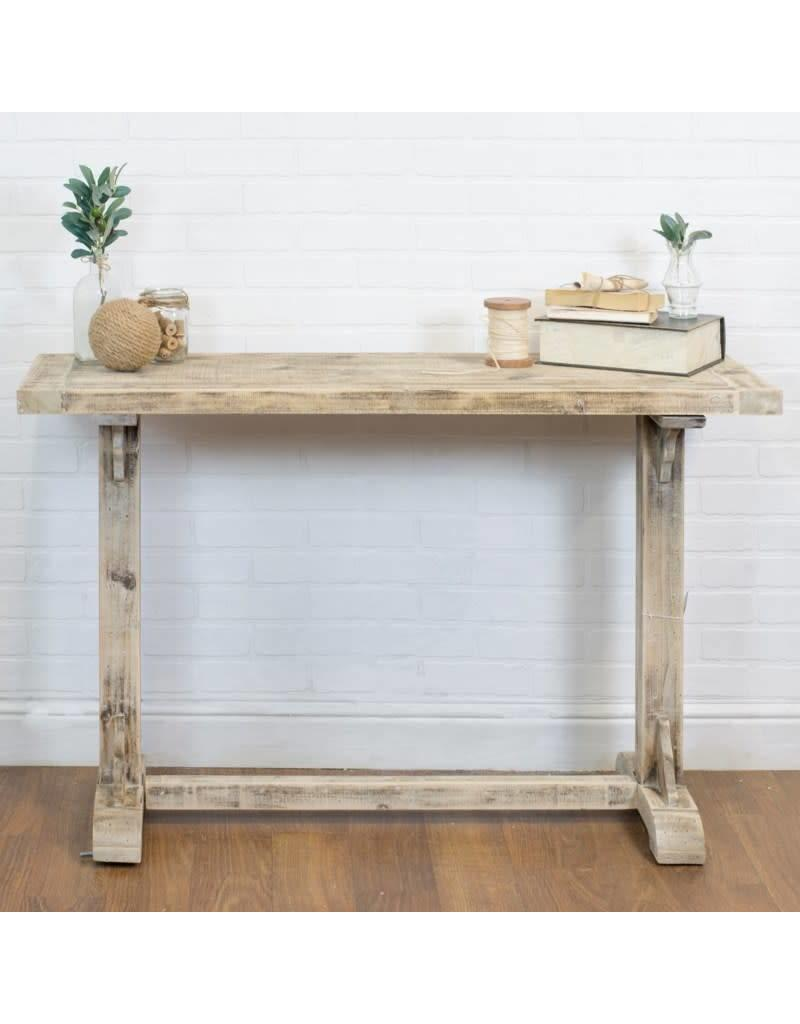 Admirable Light Wood Trestle Side Table Gmtry Best Dining Table And Chair Ideas Images Gmtryco