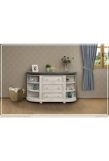TV Stands Stone Half Moon Console Table