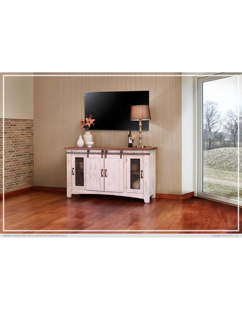 Pueblo White TV Stands