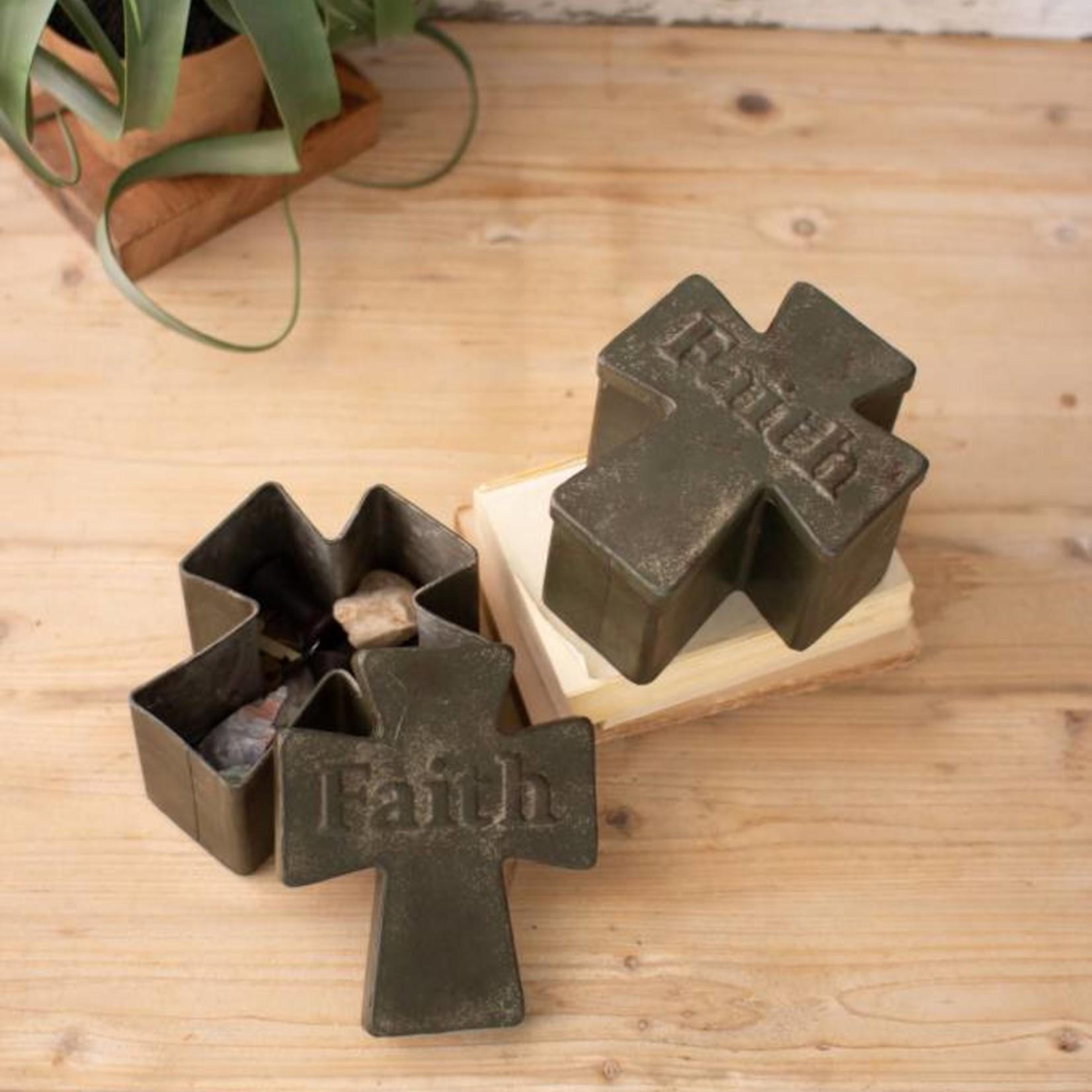 Faith Metal Prayer Box CHYK1096