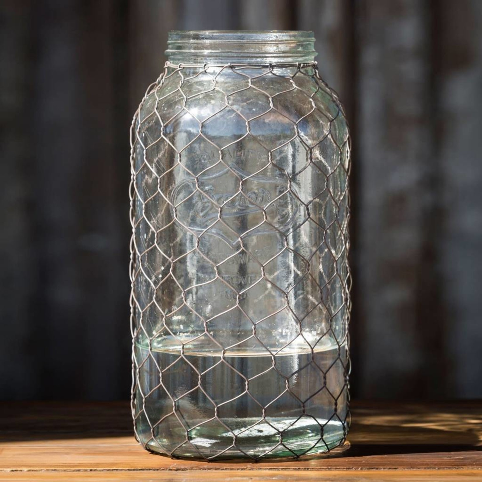 Extra Large Canning Jar With Poultry Wire