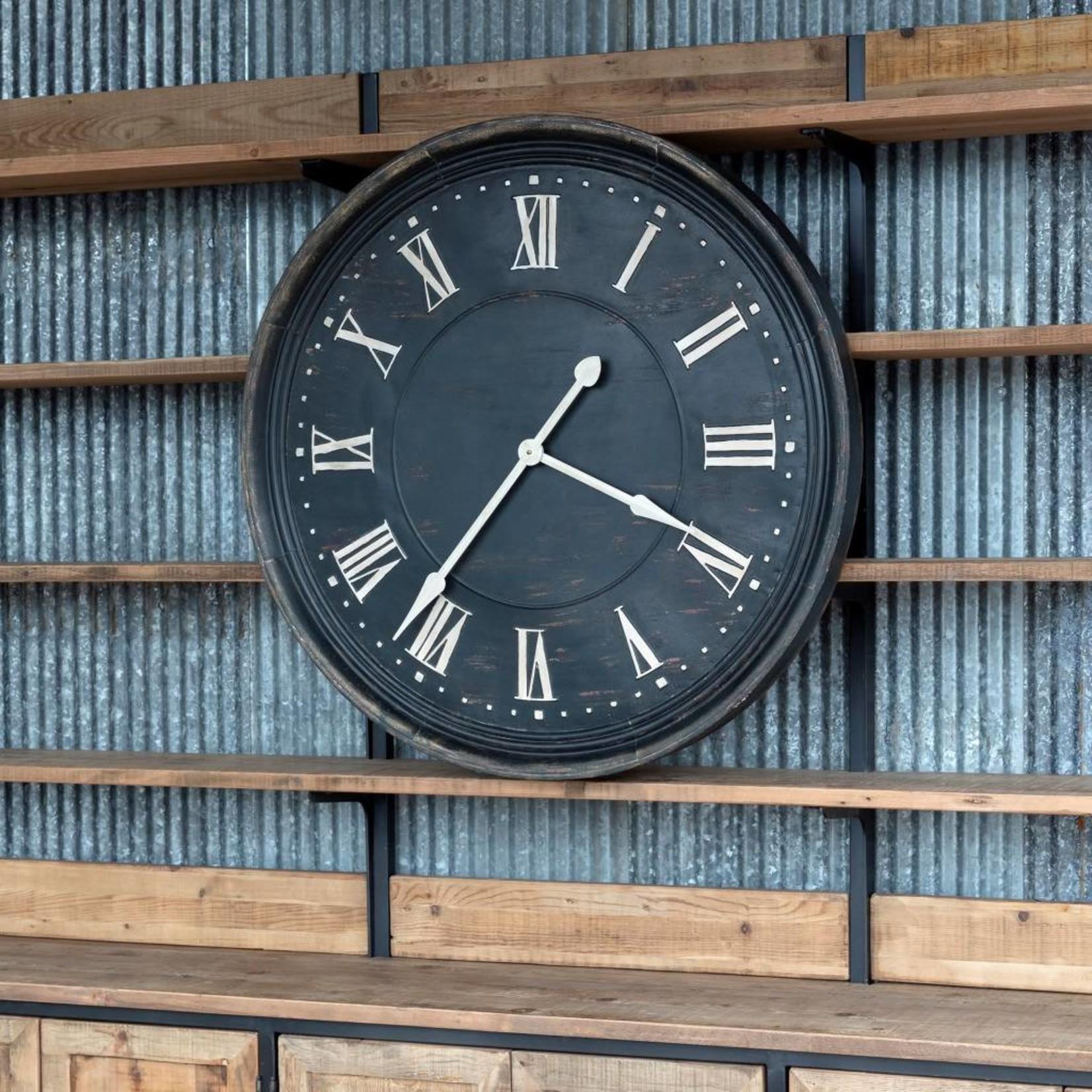 Aged Metal Bank Clock