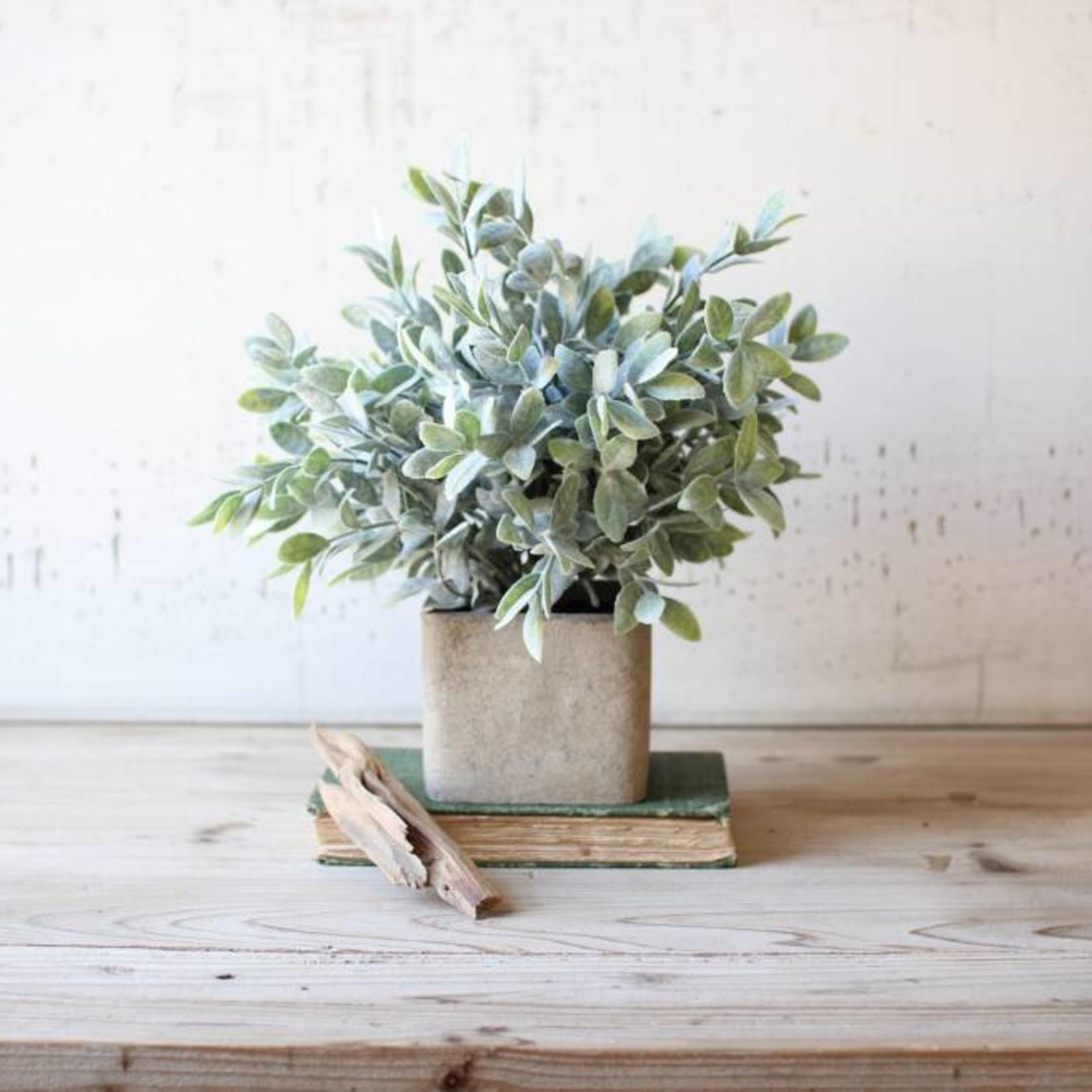 Artificial Sage Bush in a Square Pot