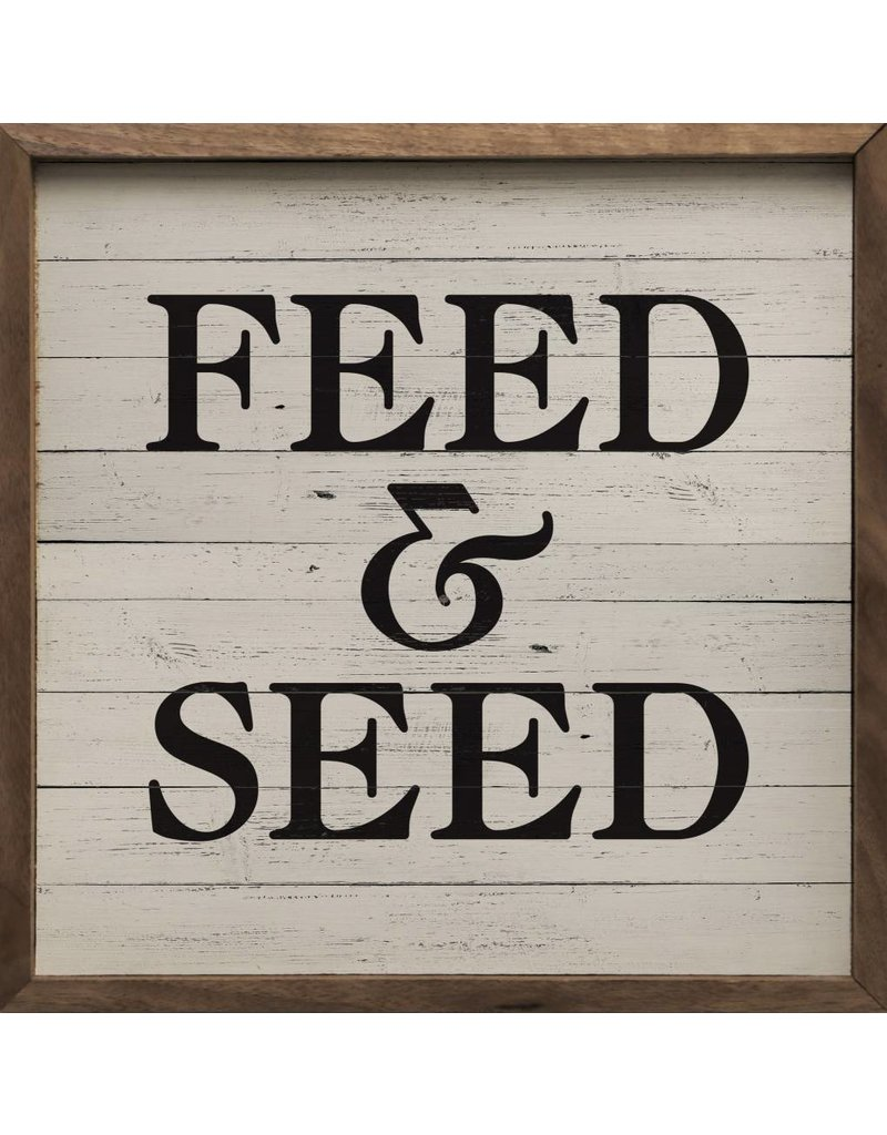 Feed and Seed Wood Sign